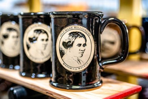Straight Shot mug with Madam C. J. Walker