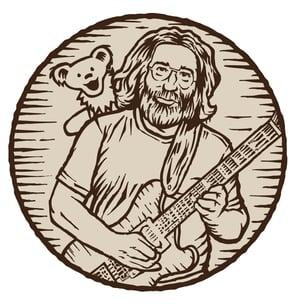 Jerry Garcia Sunset Hill Stoneware illustration