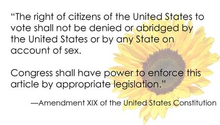 19th Amendment quote