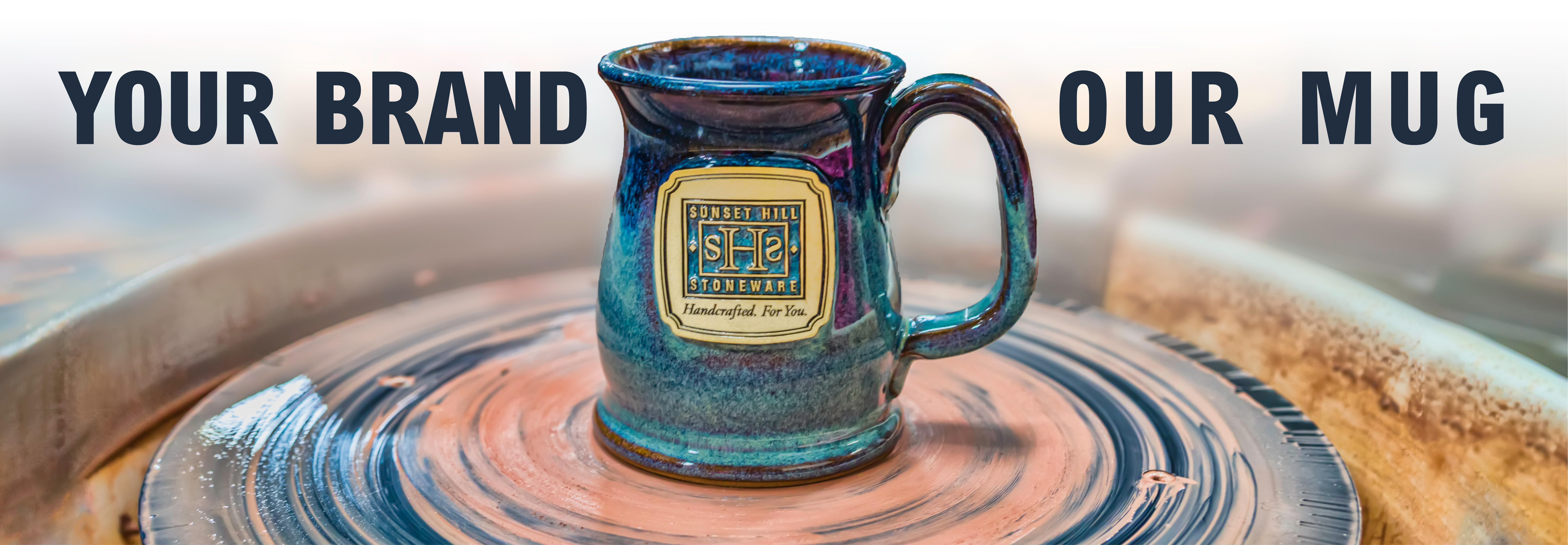Sunset Hill Stoneware. Your brand, our mug for promotional products.