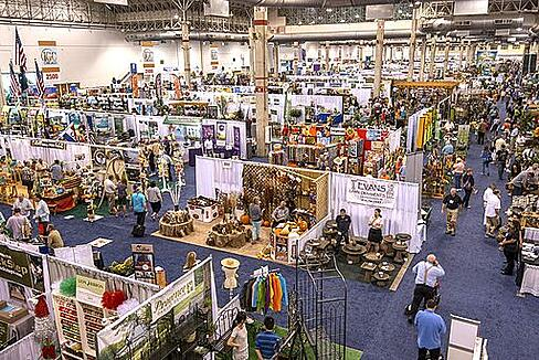 Typical trade show floor