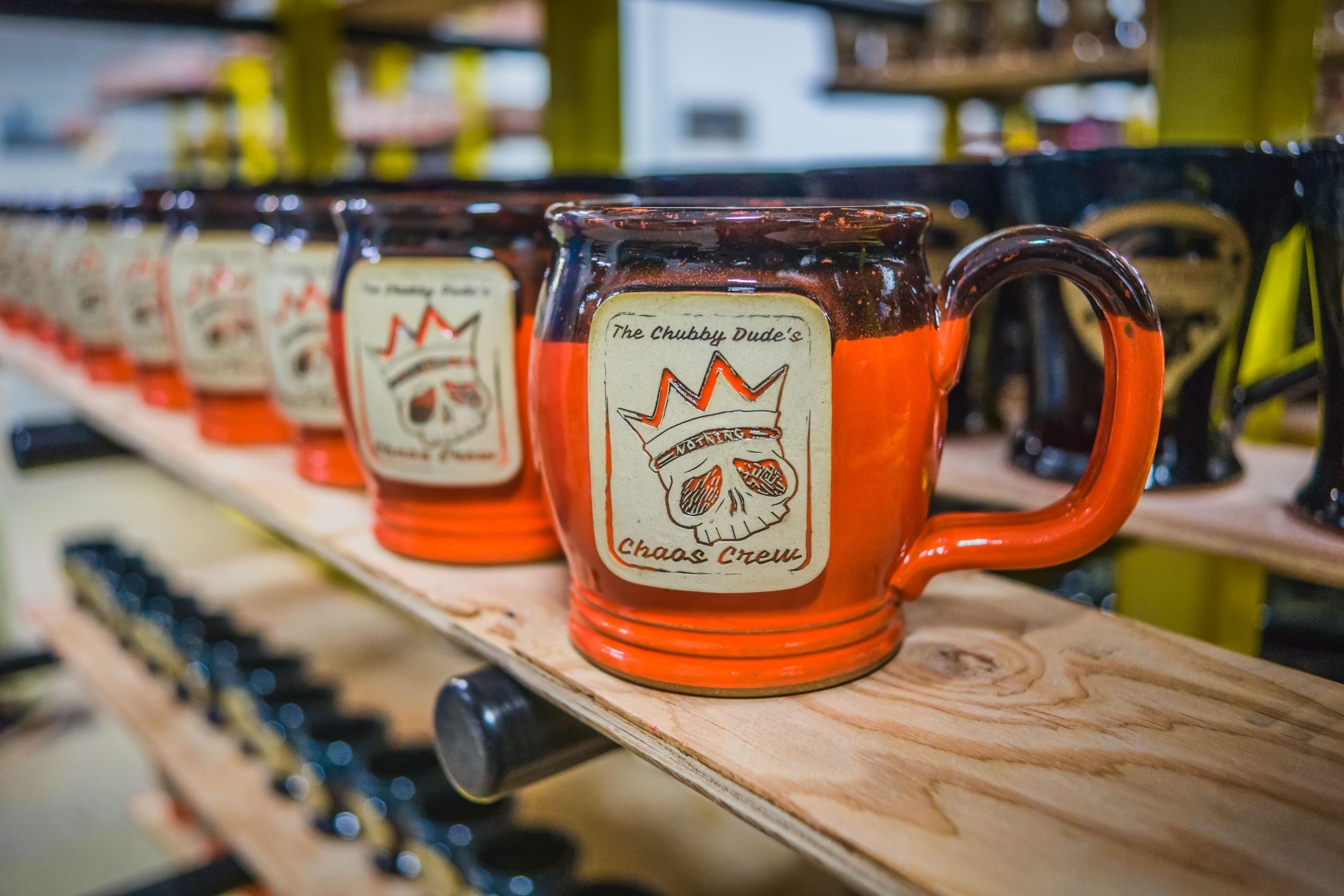 Coffee Chaos Sunset Hill Stoneware Mug Candy Corn