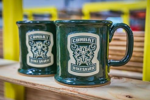 Combat Bikesaver mugs in Hunter Green