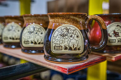 2018 Reindeer Mug in Irish Stout from Sunset Hill Stoneware