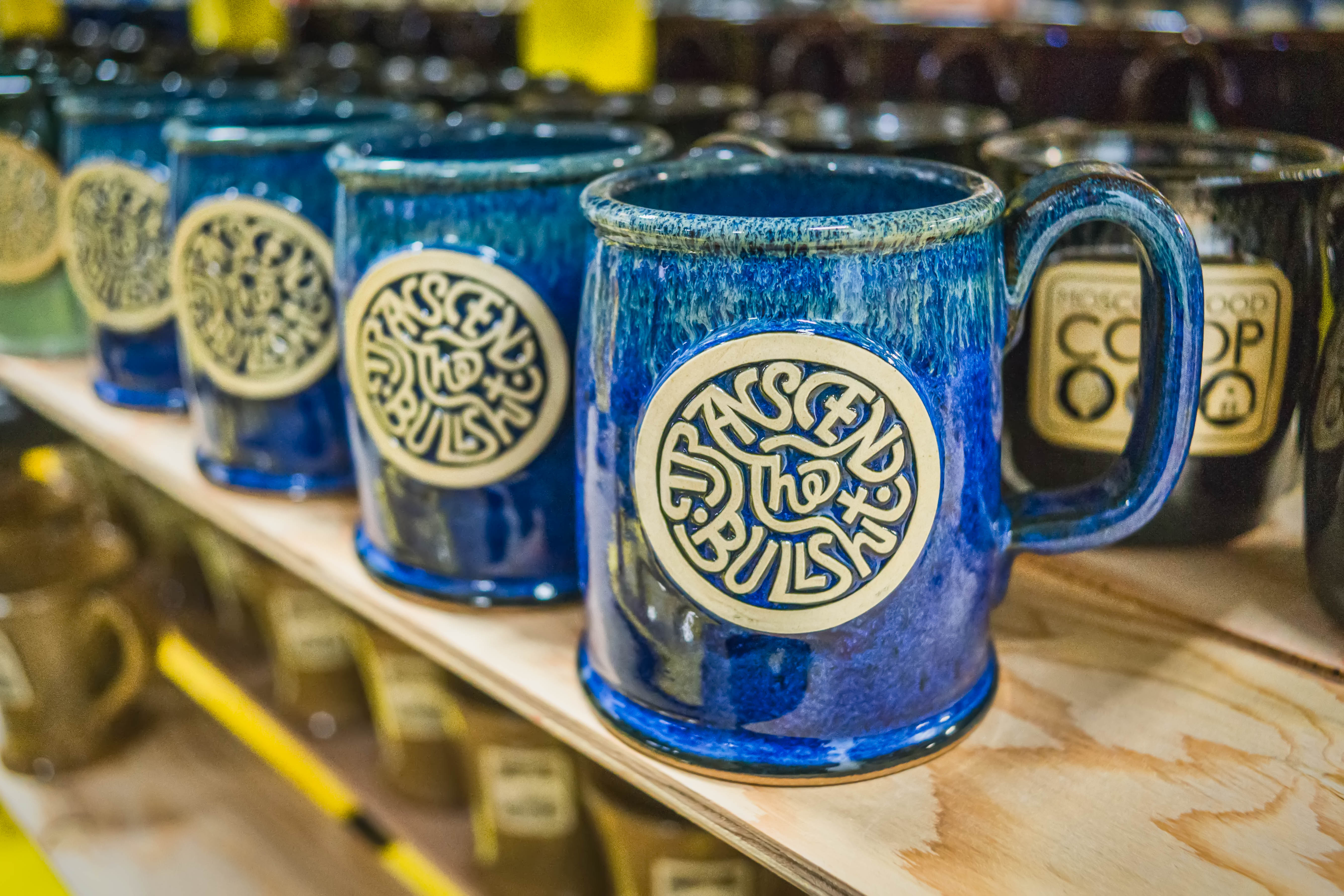 Atticus Coffee and Gifts stoneware mugs