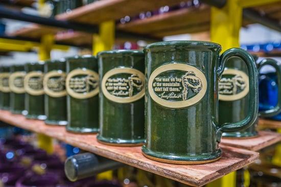 Sunset Hill Stoneware mug with Vince Lombardi mountain quote