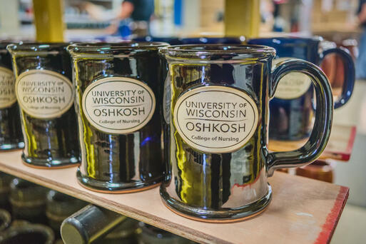 UW Oshkosh college of nursing mug