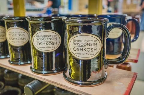 Sunset Hill Stoneware straight shot coffee mug