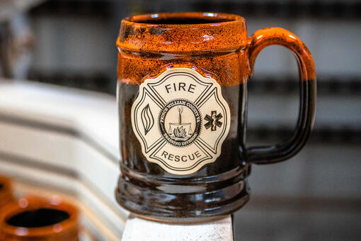 Ale House Barrel in Autumn Fire for Prince William County Fire & Rescue