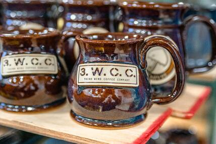 Third Wind Coffee Company Potbelly mug in Root Beer