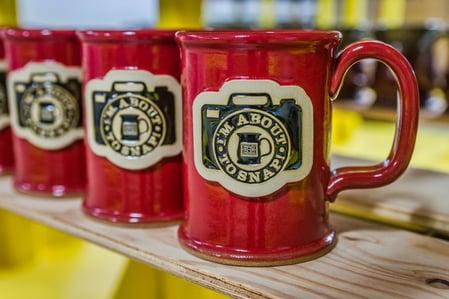 Sunset Hill Stoneware camera mug
