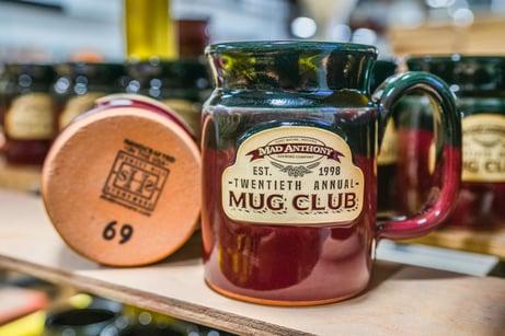 Mad Anthony mug club mugs with numbering