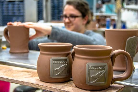 Elena with mugs