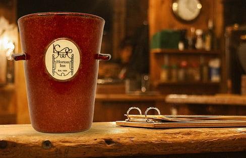 Horton Inn vase in Sunfire Red