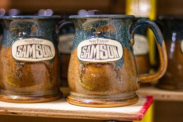 Sight and Sound Theatres Samson mug in Copperhead Run