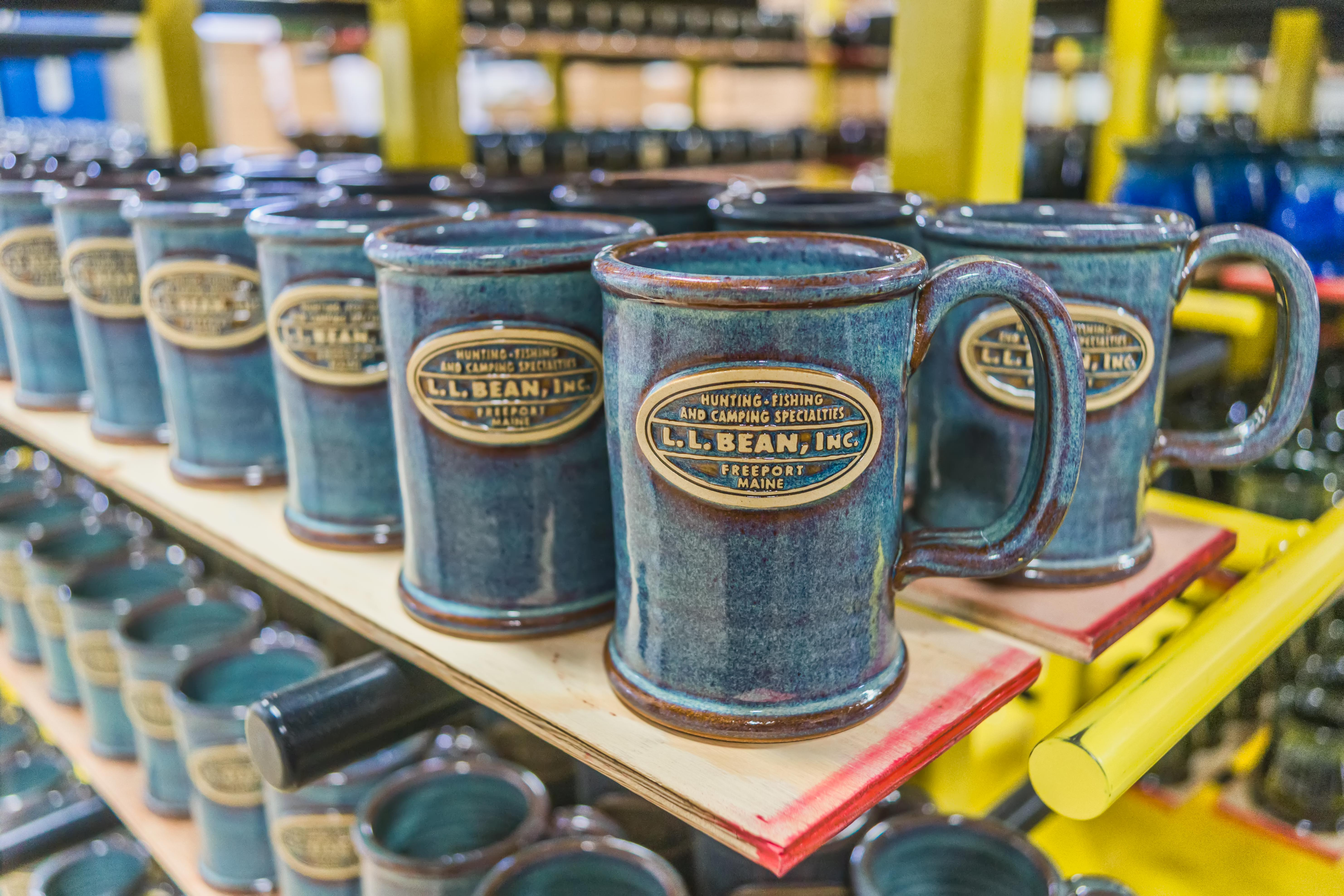 LL Bean Sunset Hill Stoneware mugs