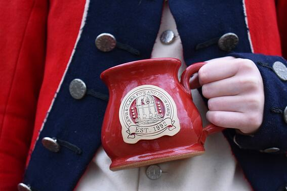 Lewis and Clark Fife and Drum Sunset Hill Stoneware mug