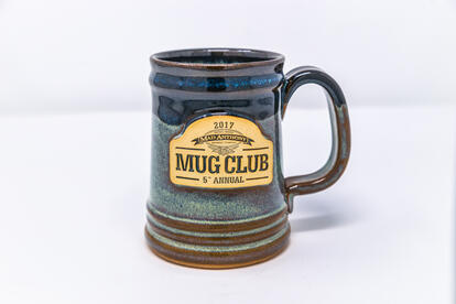 Mad Anthony 5th annual mug club stein from Sunset Hill Stoneware