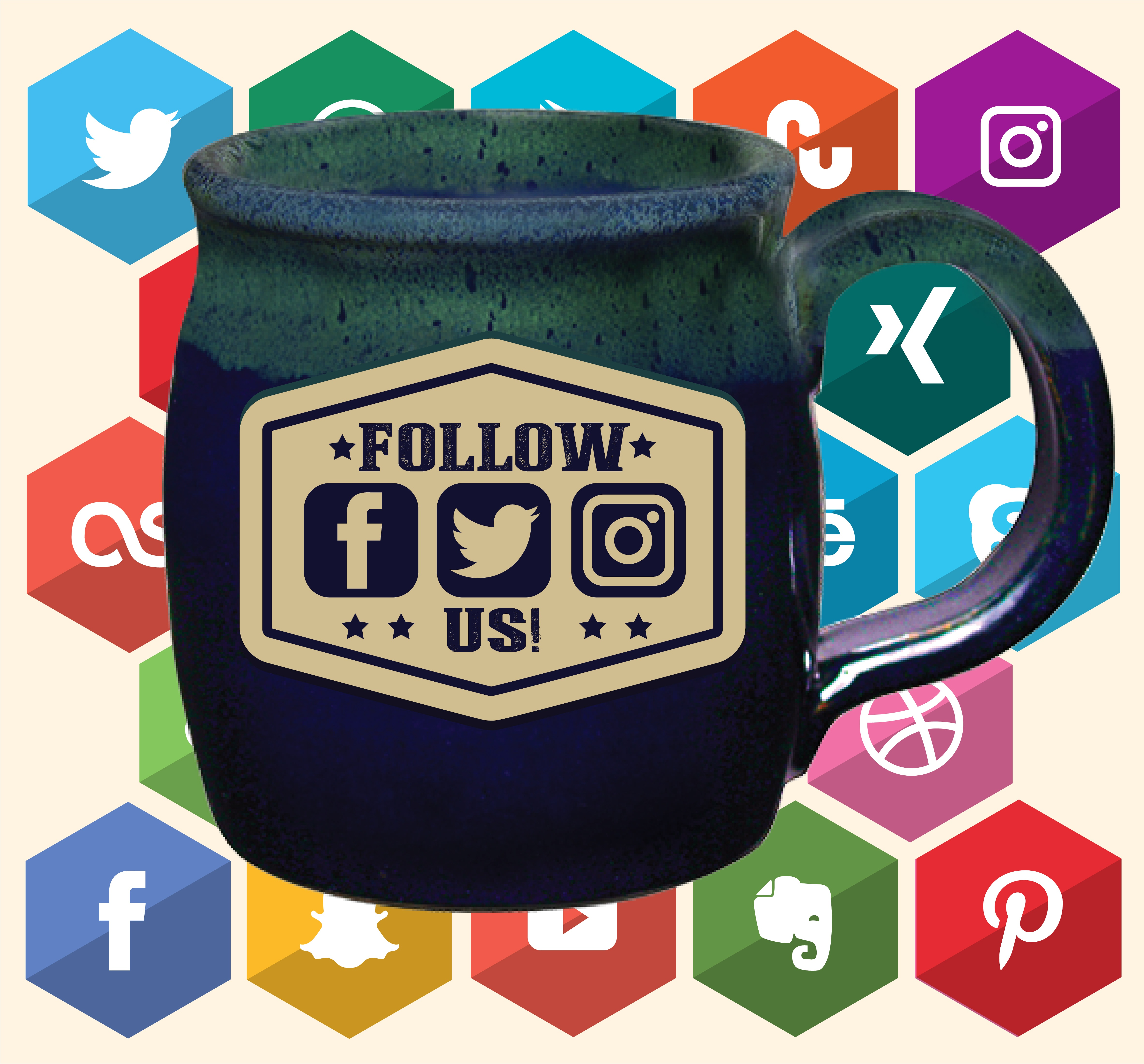 Sunset Hill Stoneware social media mug