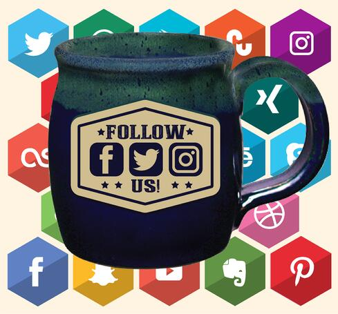 Sunset Hill Stoneware social media mug