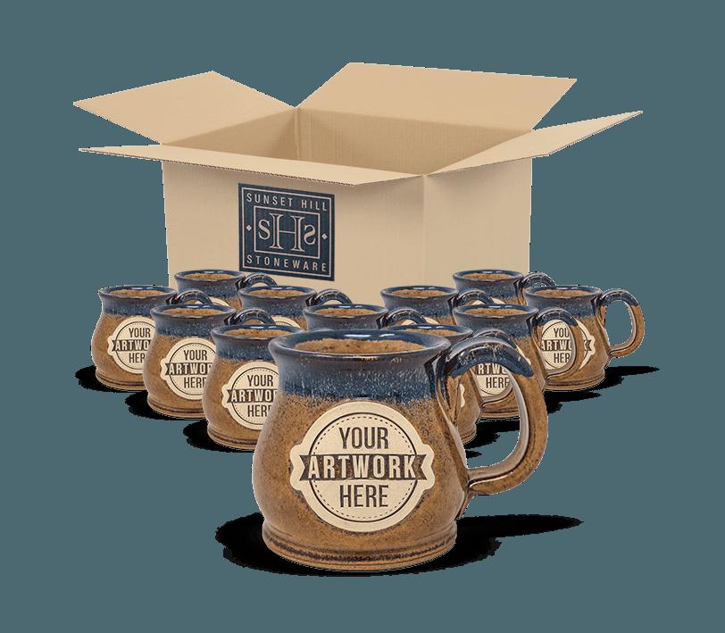 Sunset Hill Stoneware potbelly mug package