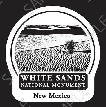 White Sands National Monument cutout