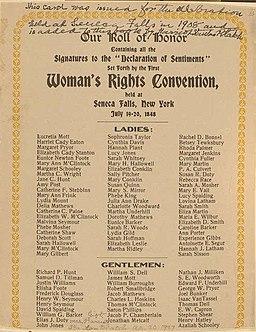 Declaration of Sentiments signatures