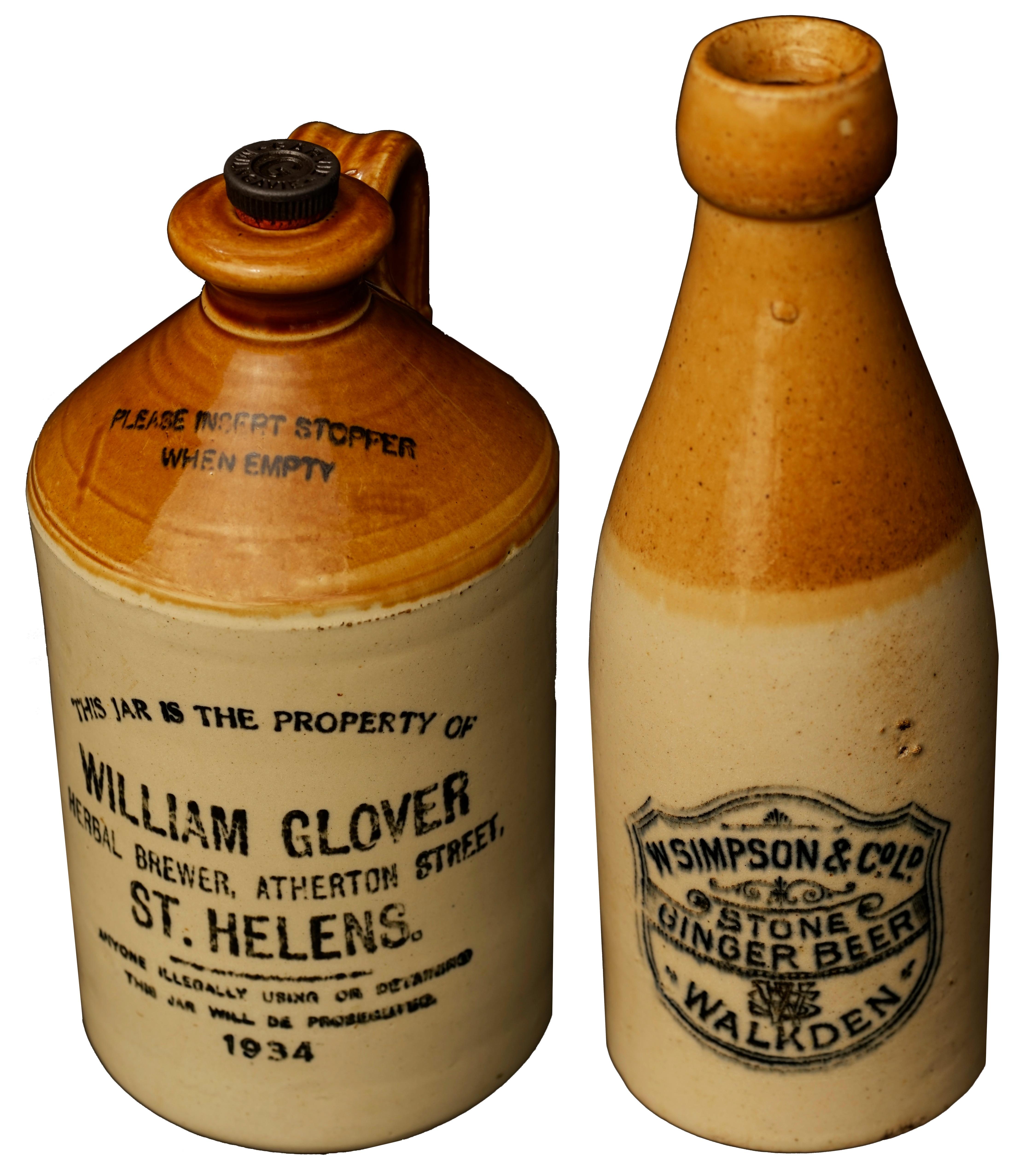 Early 20th century stoneware bottles