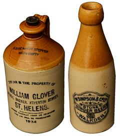 Early 20th century stoneware bottles