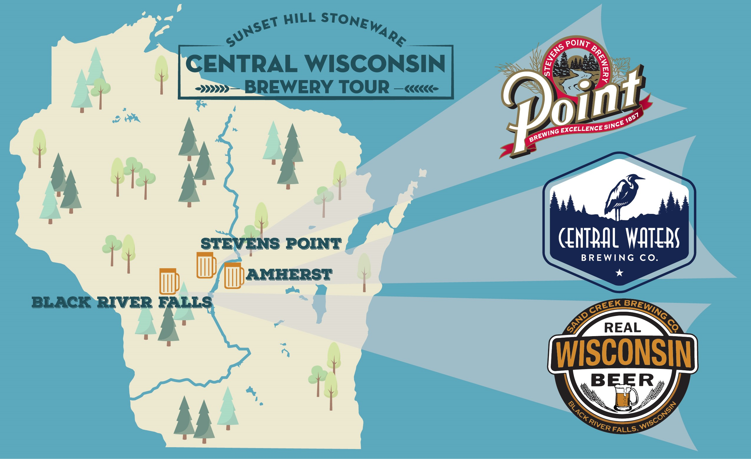 Brew Tour: Where to Find Sunset Hill Stoneware in Central Wisconsin