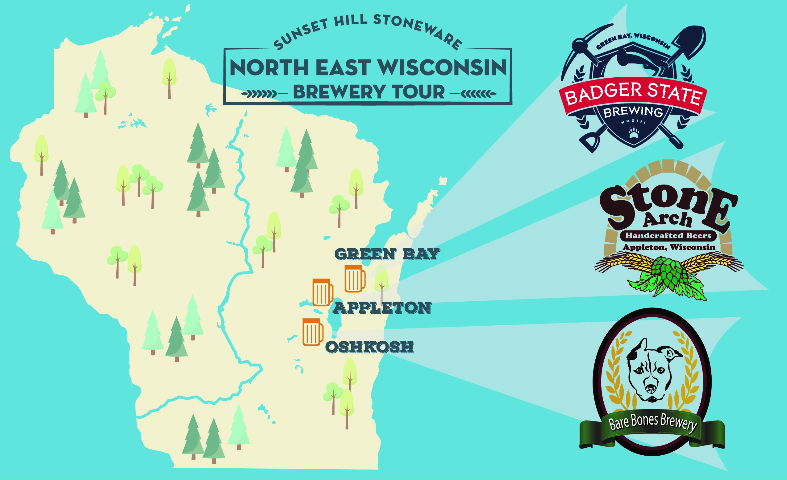 Brew Tour: Where to Find Sunset Hill Stoneware in Northeast Wisconsin
