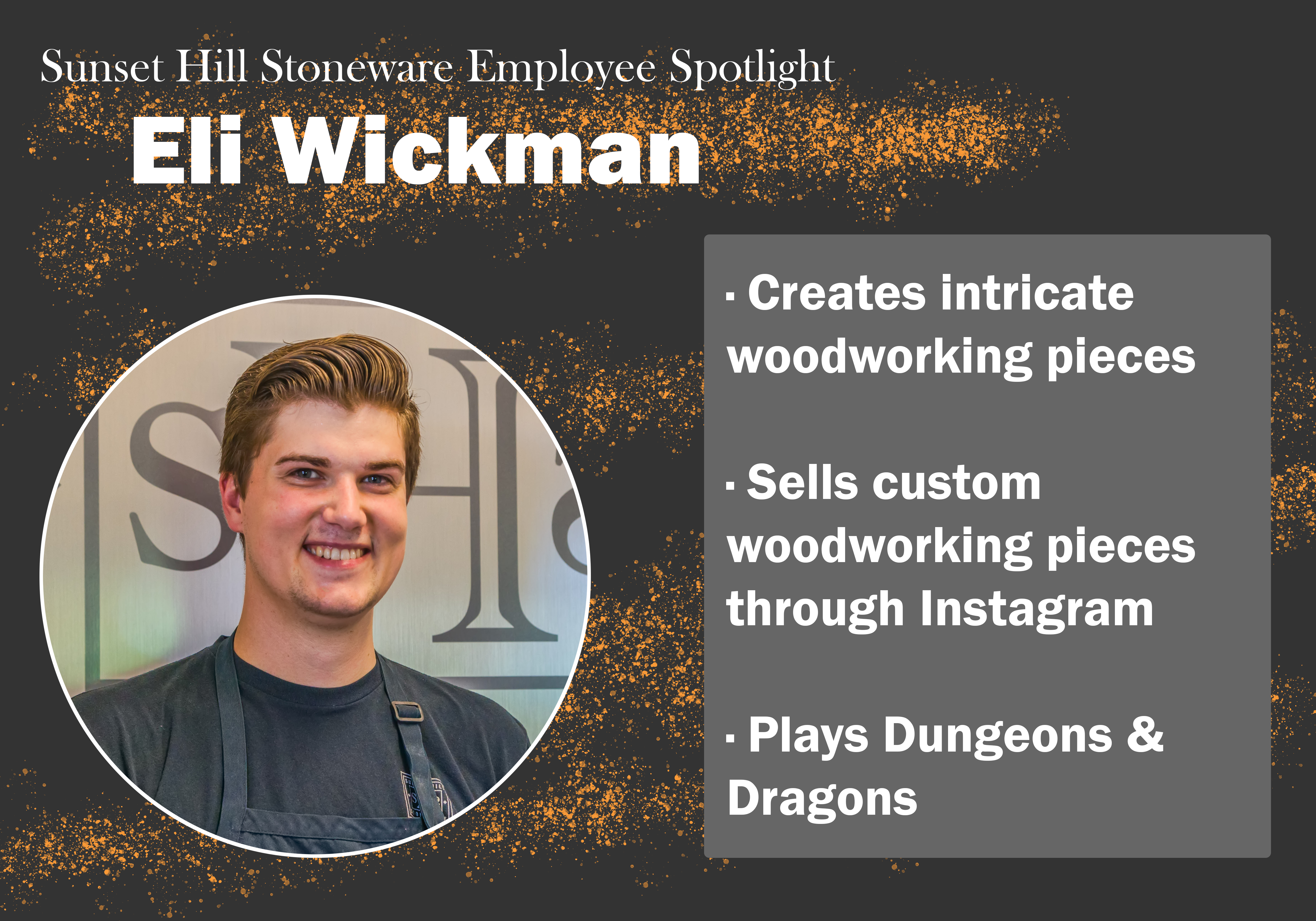 Sunset Hill Stoneware Employee Spotlight: Eli Wickman