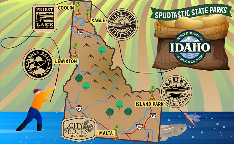 Spudtastic State Parks: Idaho Parks with Sunset Hill Stoneware