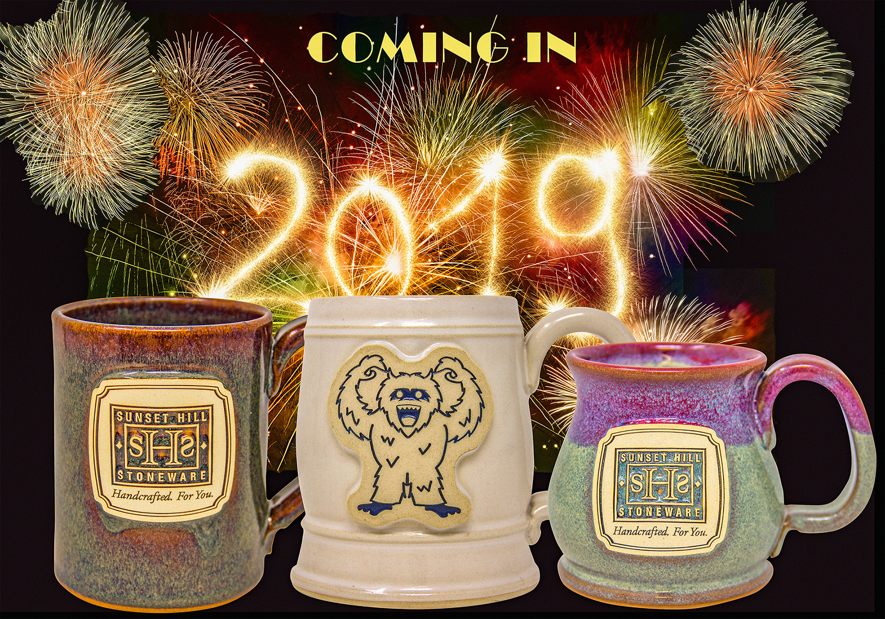 New unique mugs and glazes for the new year