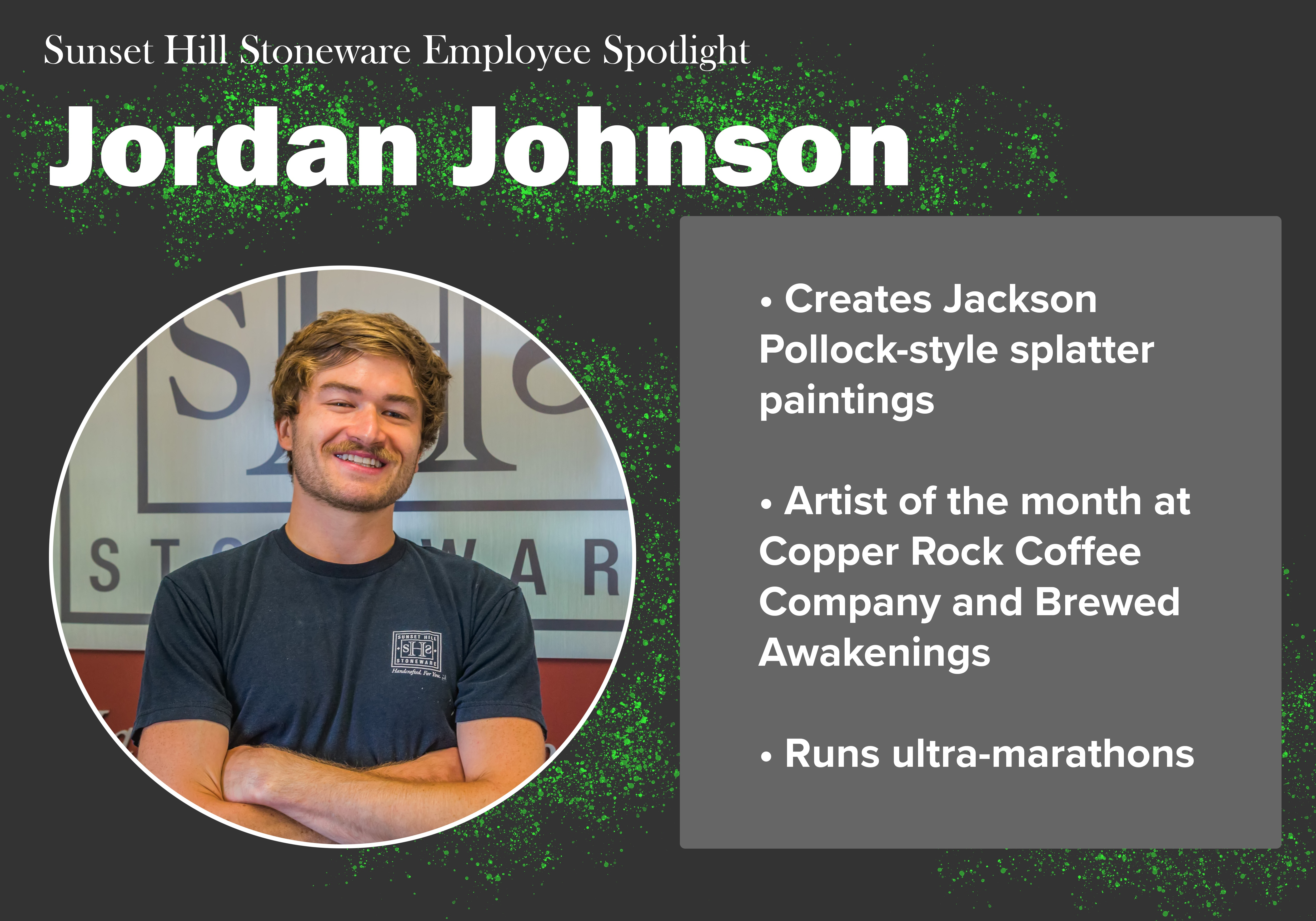 Sunset Hill Stoneware Employee Spotlight: Jordan Johnson
