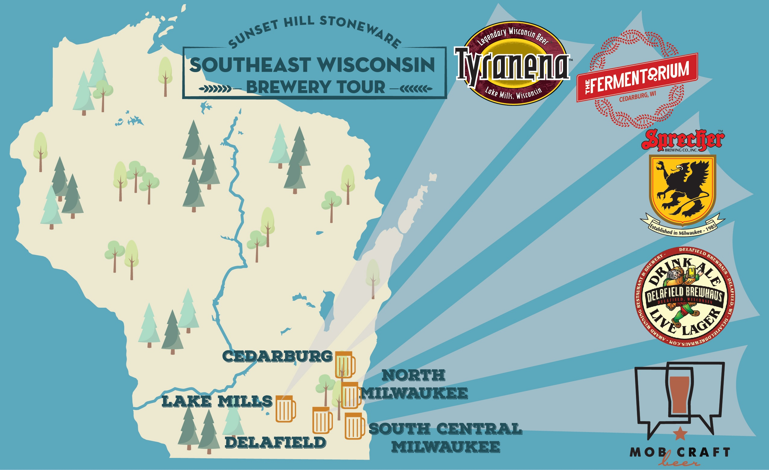 Brew Tour: Find Sunset Hill Stoneware in Southeast Wisconsin