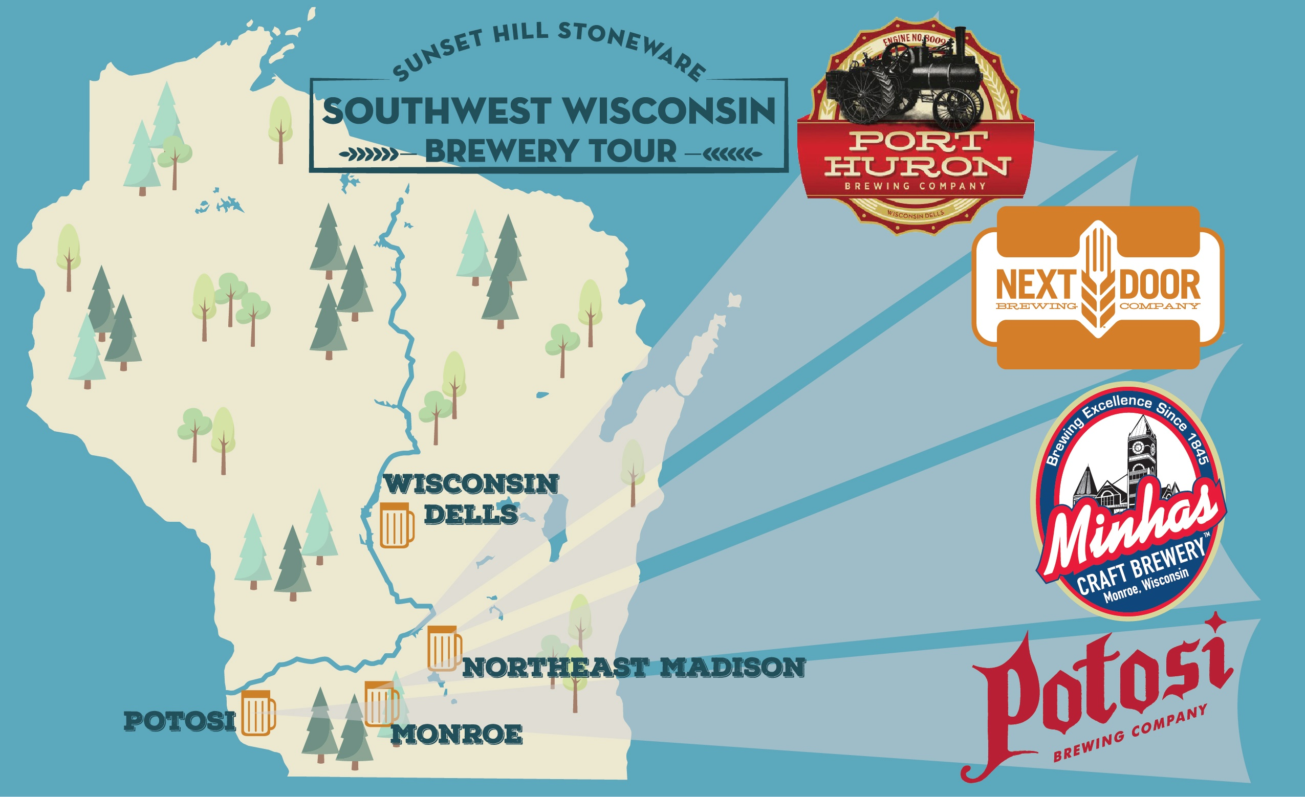 Brew Tour: Find Sunset Hill Stoneware in Southwest Wisconsin